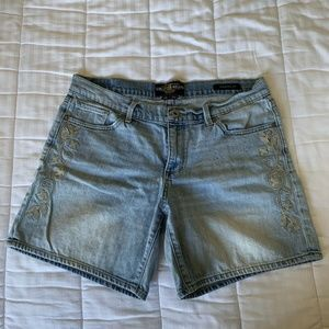 "Lucky Brand ""The Roll Up"" Sz 10 Denim Shorts"